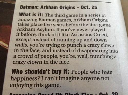 papers batman arkham origins - 7782408192