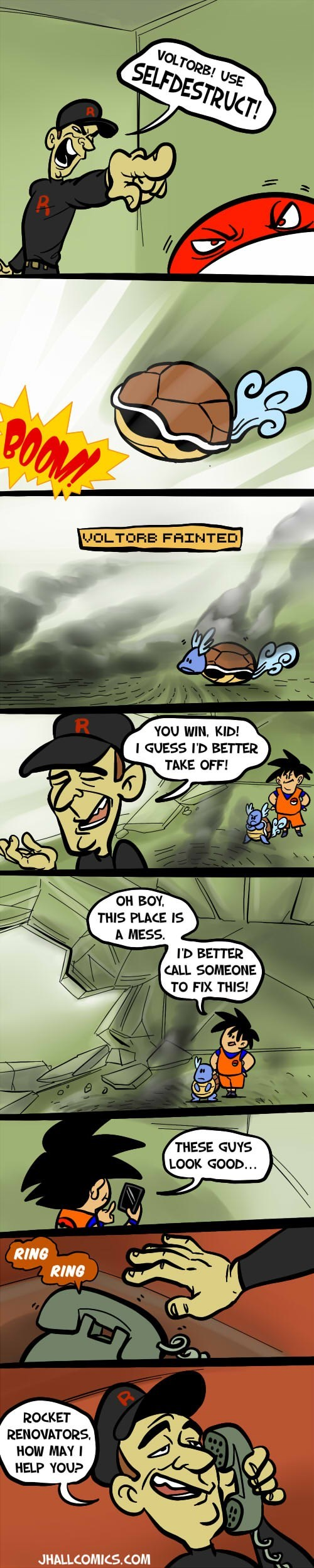 Pokémon insurance Team Rocket comics - 7782452736