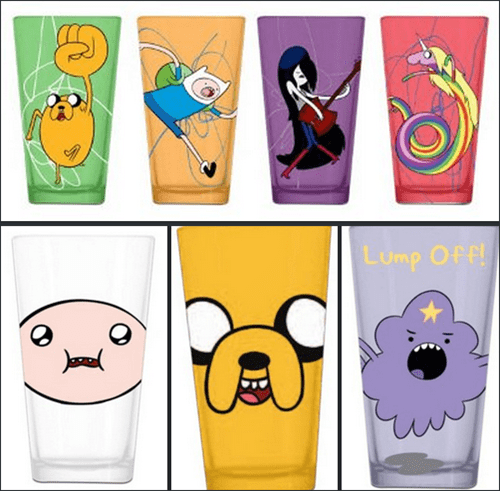 pint glasses beer awesome funny adventure time after 12 - 7782534656