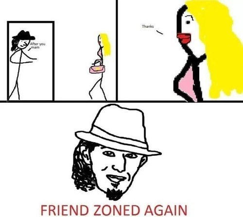fedora comic friend zone - 7782573824