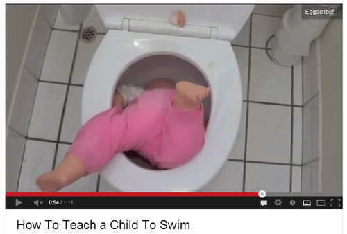 wtf kids swimming funny toilets