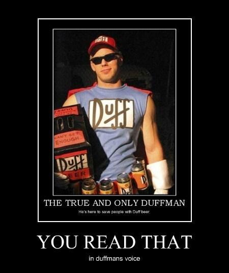 duffman duff simpsons - 7782622720