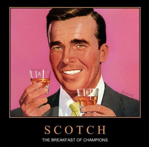 drink breakfast scotch pros funny - 7782770688