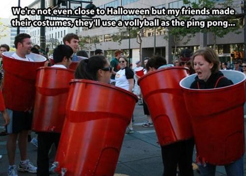 costume,halloween,beer pong