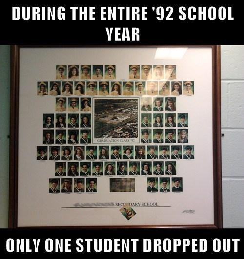 school class photo drop out funny - 7782999040