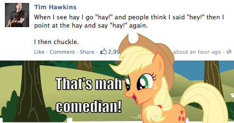 applejack twitter jokes comedy - 7783746048