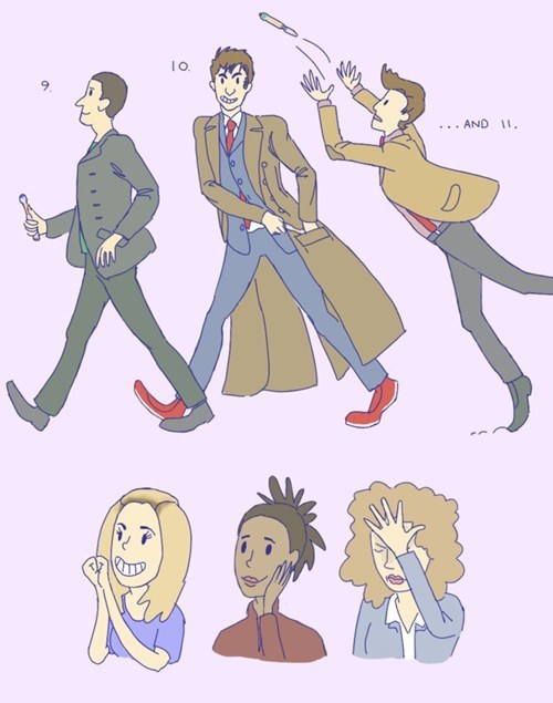 10th doctor Fan Art 11th Doctor doctor who 9th doctor - 7783832832