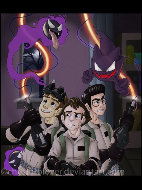 crossover Pokémon Fan Art Ghostbusters - 7784012288