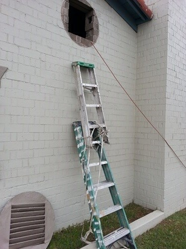 ladders,funny,there I fixed it