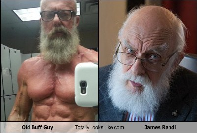 old guys,old buff guy,totally looks like,james randi,beards,funny