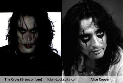 alice cooper,The Crow,totally looks like,Brandon Lee,funny