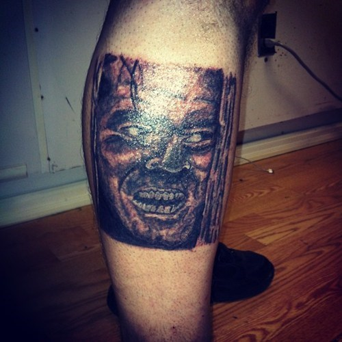 bad jack nicholson tattoos the shining funny - 7784346880