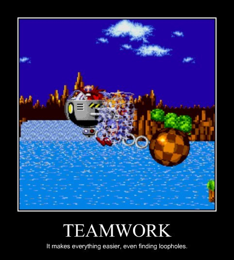 teamwork video games tails sonic