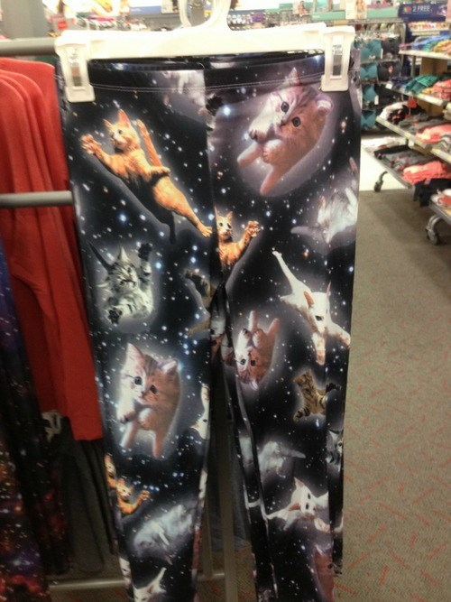 leggings IN SPACE Cats space poorly dressed g rated - 7785133824