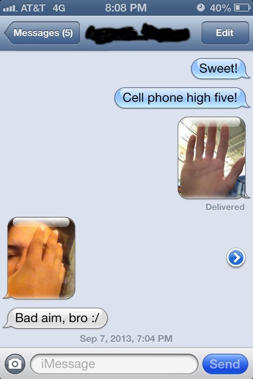 text high five funny AutocoWrecks