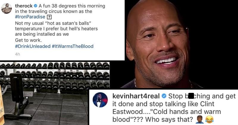 twitter Dwayne Johnson social media the rock kevin hart funny win - 7785221
