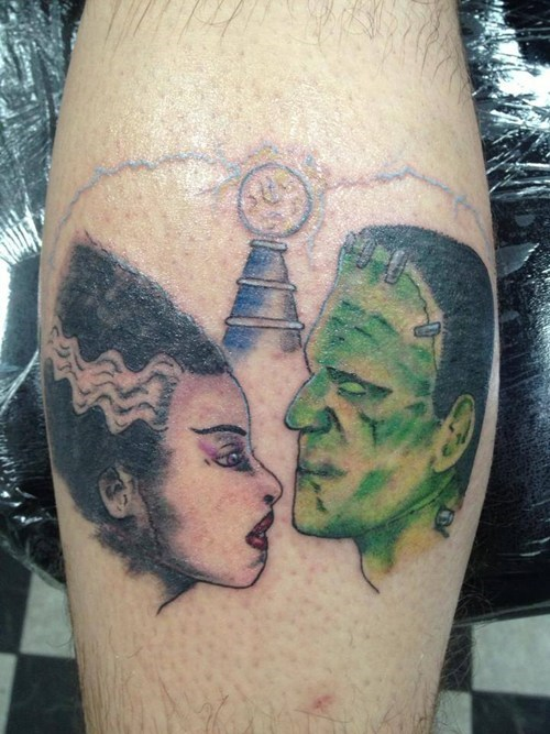 bride of frankenstein,frankenstein,tattoos,funny