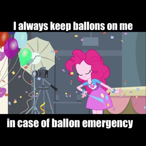 I always keep ballons on me