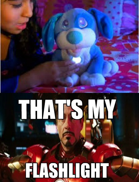 ironman,flashlights,funny