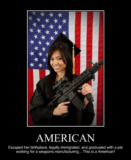 guns immigrants america funny - 7786292736