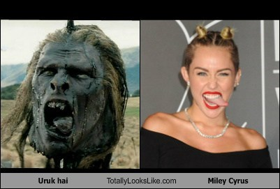 Lord of the Rings orcs totally looks like miley cyrus funny - 7786494976