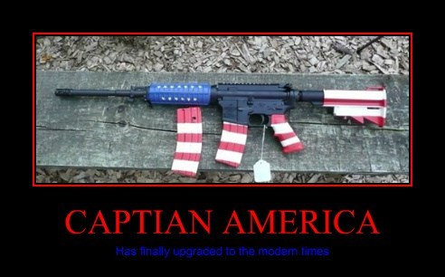 guns captain america funny - 7786792448