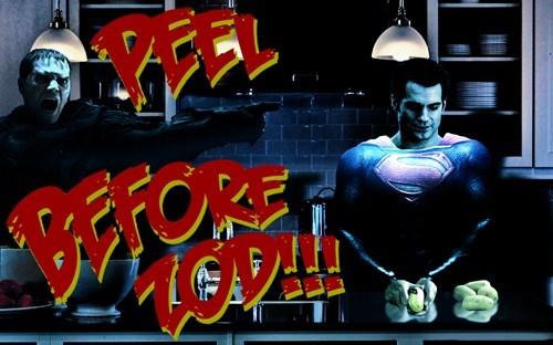 zod puns kneel superman