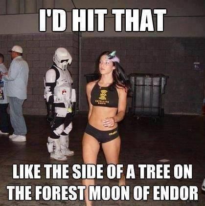 star wars stormtrooper caught looking return of the jedi