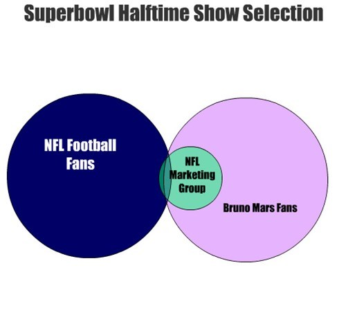 NFL Football Fans Bruno Mars Fans Superbowl Halftime Show Selection NFL Marketing Group