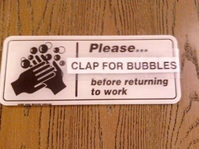 clap for bubbles,soap