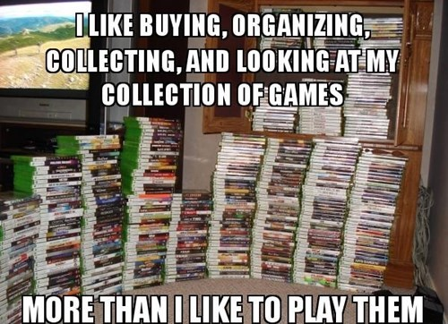 gaming confessions,collecting