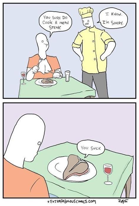 steak puns food funny cows web comics - 7788071168