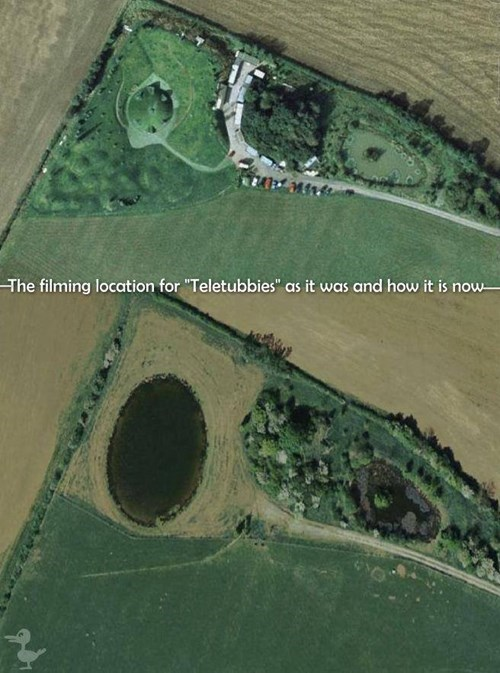 Ruined Childhood,teletubbies,google earth,teletubby
