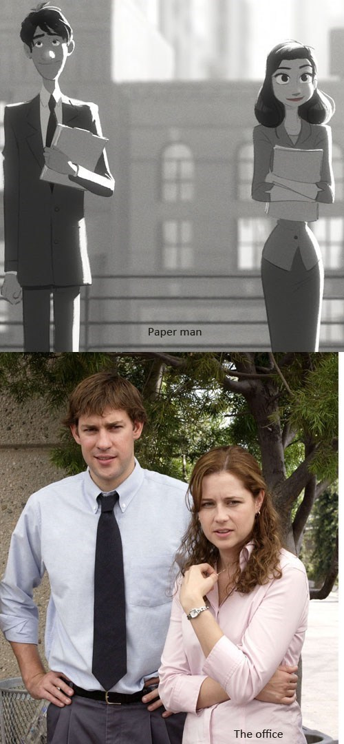 the office,totally looks like,paper man