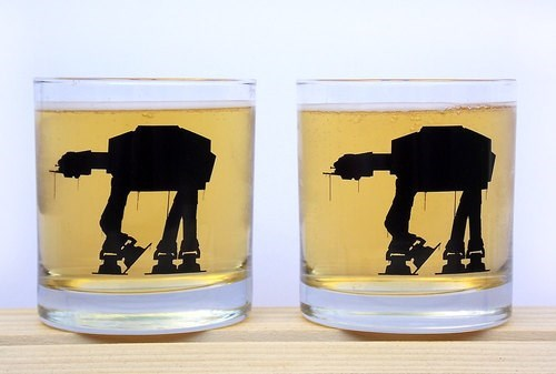 star wars,rocks glass,awesome,funny,at at