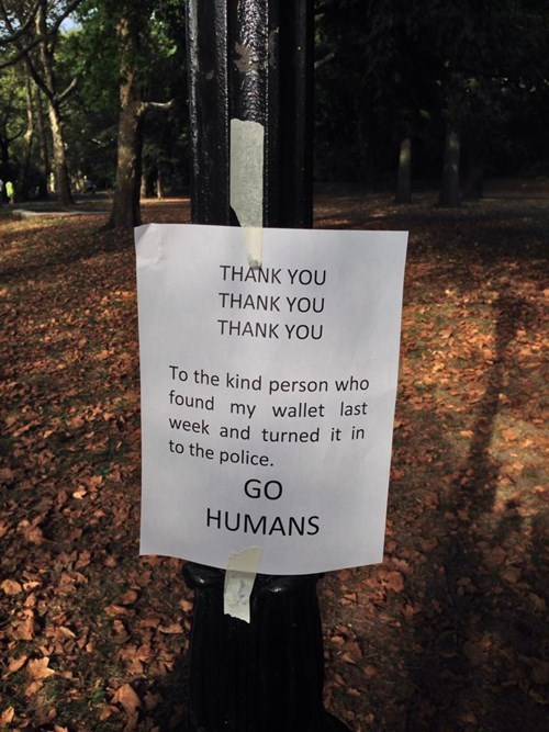 sign Random Acts Of Kindness restoring faith in humanity week funny - 7788430848
