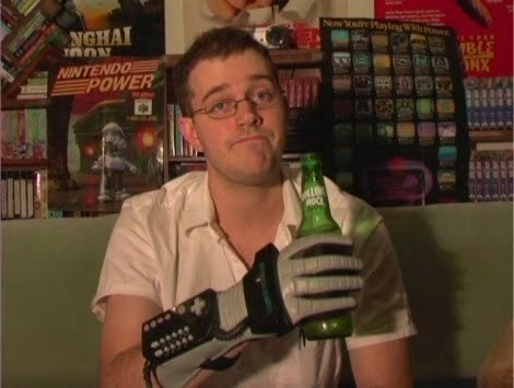 beer nerds power glove funny - 7788431616
