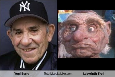 hoggle yogi berra totally looks like funny labyrinth - 7788669184