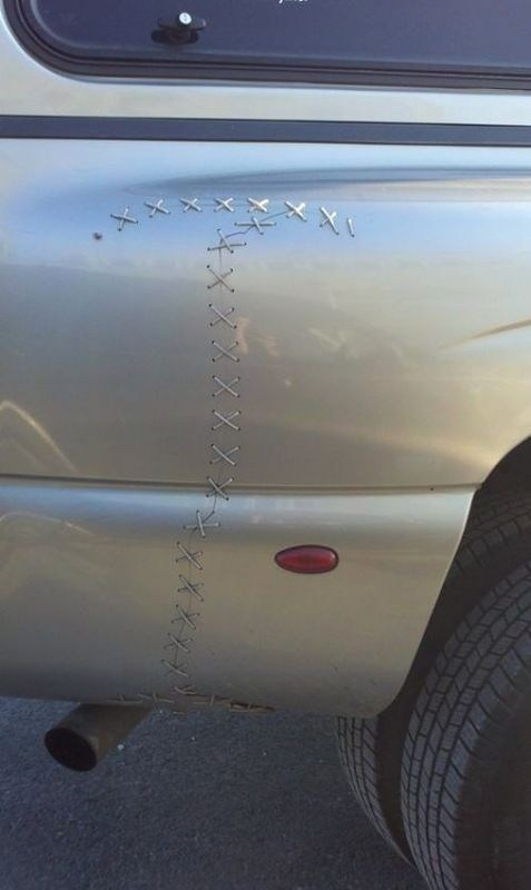 stitching,cars,funny,there I fixed it
