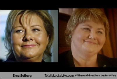 totally looks like,doctor who,erna solberg,slitheen blaine,funny