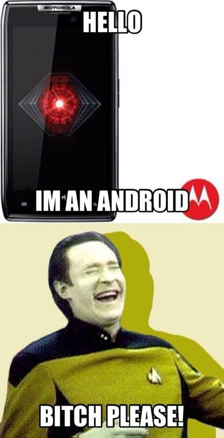 puns data funny androids AutocoWrecks - 7788849920
