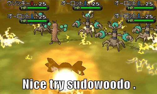 sudowoodo Pokémon oorotto pokemon x/y - 7789987584