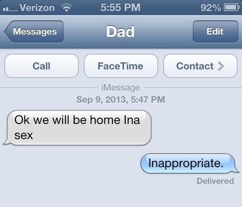 autocorrect,Awkward,text,dad,funny,AutocoWrecks