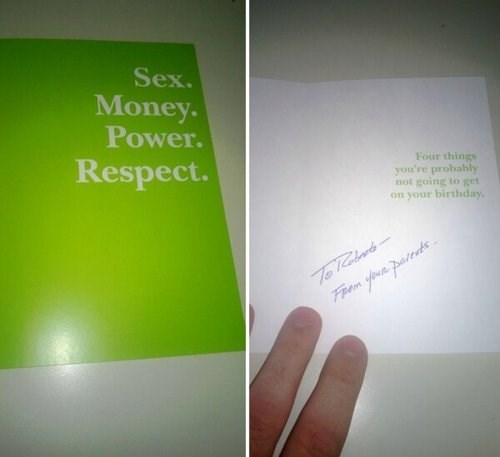 sex respect birthday cards parenting power money parents - 7790403328