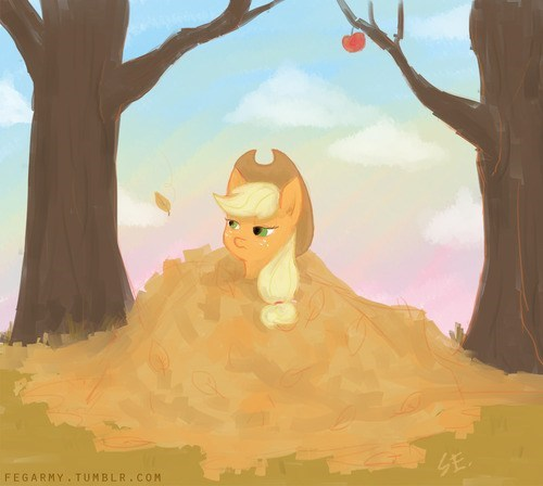 applejack art fall - 7790607104