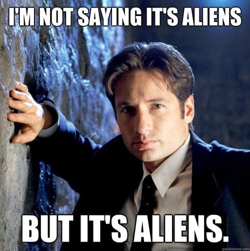 Aliens,xfiles,Mulder