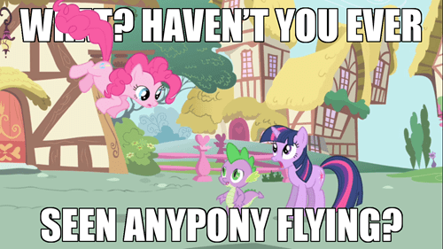 Pinkie uses Fly!