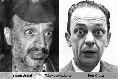don knotts,yassar arafat,totally looks like,funny