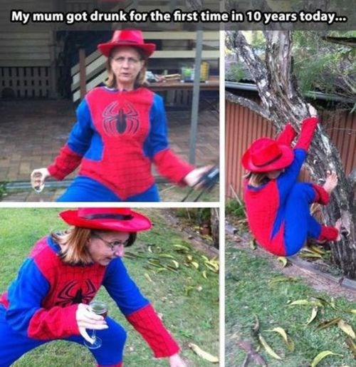Spider-Man,drunk,moms,funny,after 12,g rated