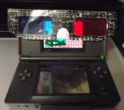 3d,3d glasses,funny,nintendo ds,there I fixed it